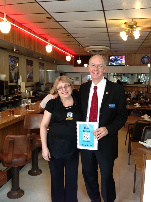 Congressman Foster at the Route 66 Diner in Joliet