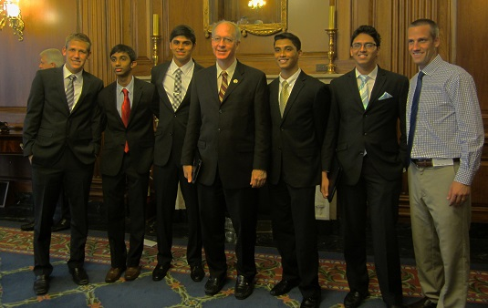 Congressman Foster with Naperville students