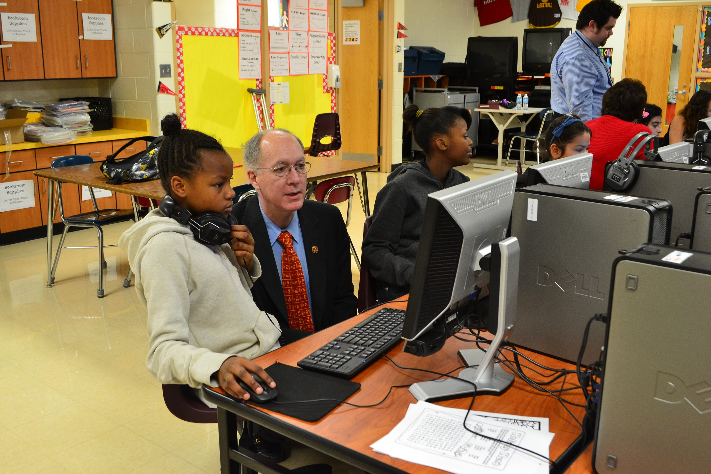 Congressman Bill Foster Participates In The Hour of Code